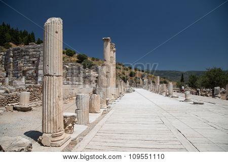 Ancient Street In Ephesus