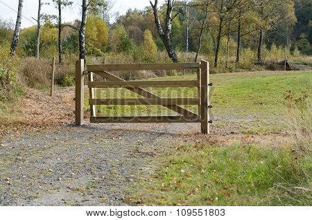 A Gate Of Wood To Protect