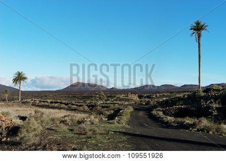 View From Yaiza Towards Timanfaya