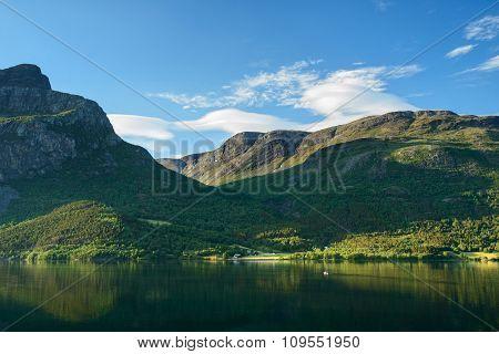 Norway mountain lake