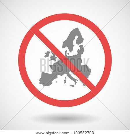 Forbidden Vector Signal With  A Map Of Europe