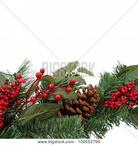Christmas Evergreen Border for Design, frame.