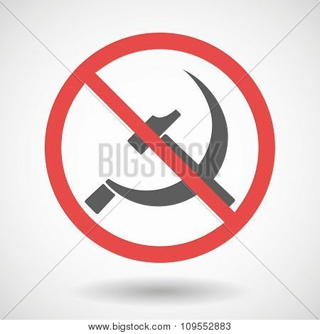 Forbidden Vector Signal With  The Communist Symbol