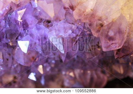 Purple and white natural amethyst geode