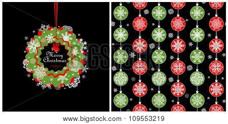 Red and green design for winter holidays