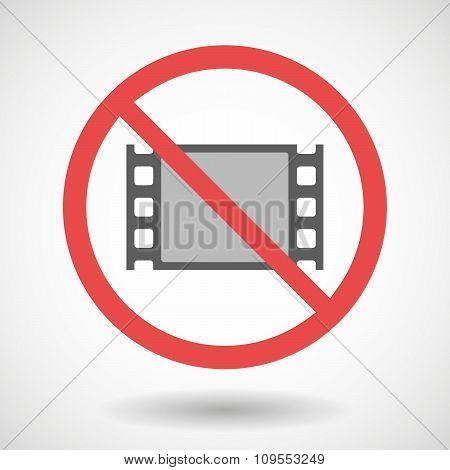 Forbidden Vector Signal With A Film Photogram