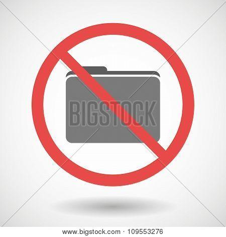 Forbidden Vector Signal With A Folder