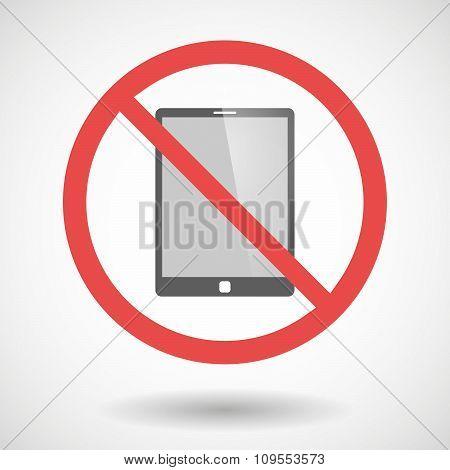 Forbidden Vector Signal With A Tablet Computer
