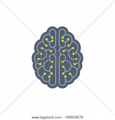 Human brain vector concept illustration.