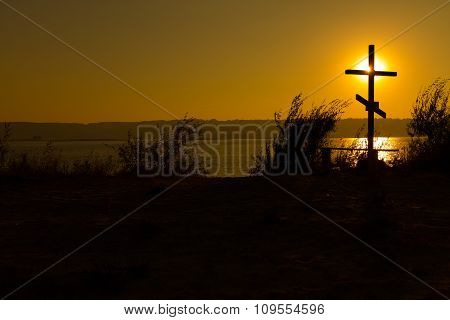 Cross Near The Water