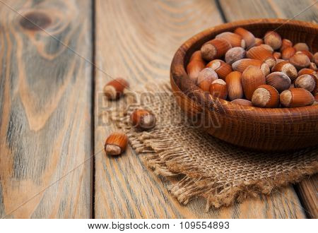 Bowl With Hazelnuts