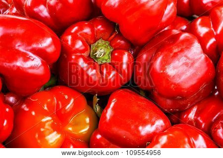 Red Bell Pepper Background