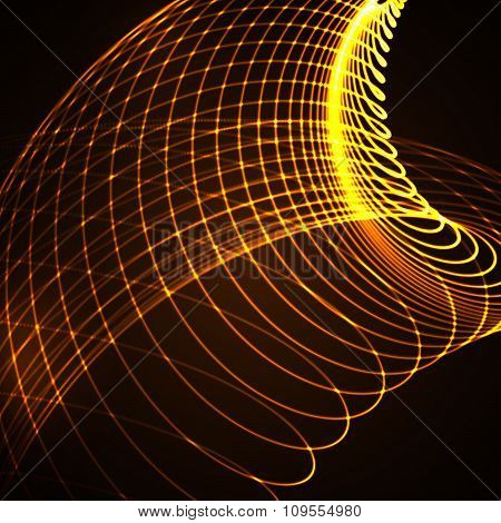 3D illuminated curved lines