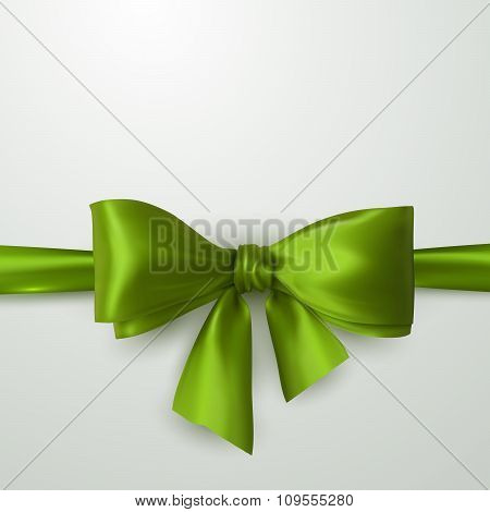 Green Bow And Ribbon.