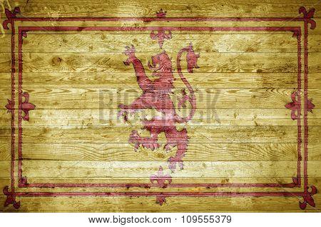 Wooden Boards Scotland Lion Rampant