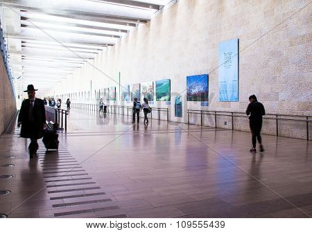 Unidentified Passengers At Ben Gurion International Airport. Tel Aviv. Israel