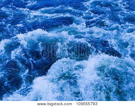 Powerful Stream Of Blue Water