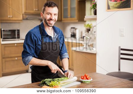 Preparing A Healthy Meal At Home