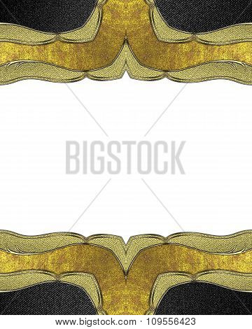 Gold Frame With A White Background. Element For Design. Template For Design.