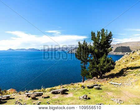 Scenic Point  At Lake Titicaca