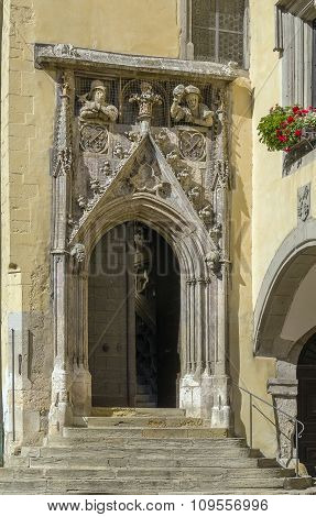 Portal Of Old Town Hall, Regensburg, Germany