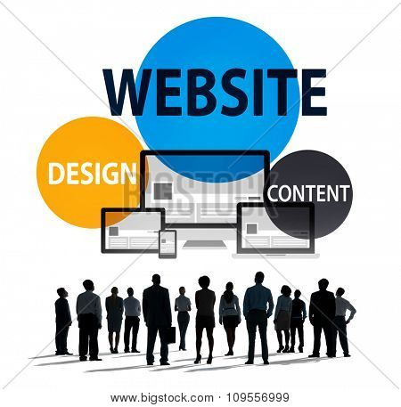 Website Design Content Internet Online Connection Concept