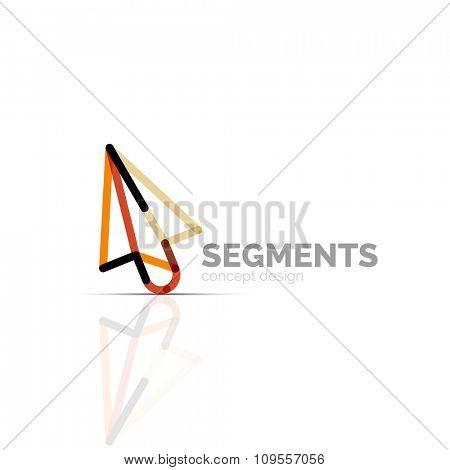 Arrow icon vector logo. Company branding element. Illustration