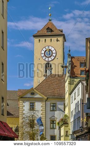 Town Hall Tower, Regensburg, Germany
