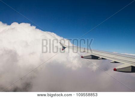 Big Plane Leaves The Overcast