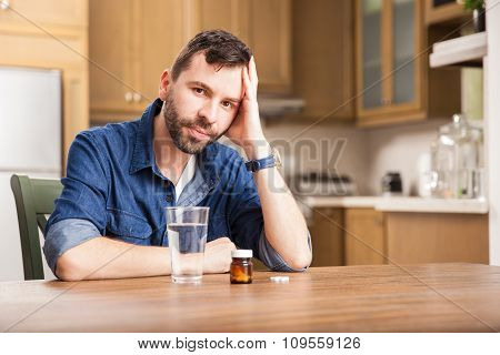 Guy Feeling Unwell At Home