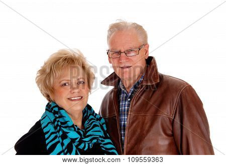 Lovely Older Couple In Closeup.