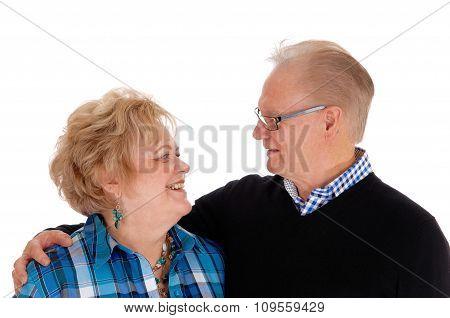 Lovely Older Couple Smiling.