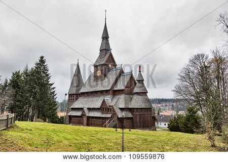 Stave church at Hahnenklee in the Harz Mountains