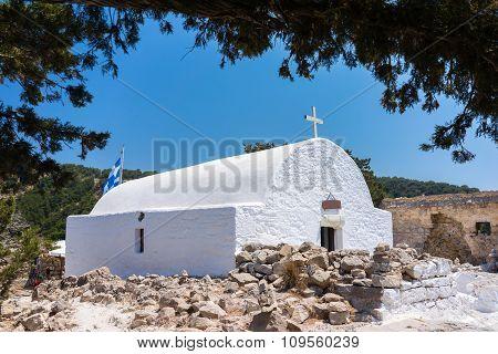 Chapel At Monolithos Castle
