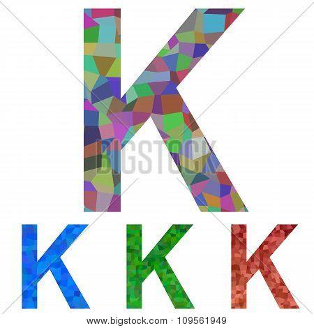 Mosaic font design - letter K