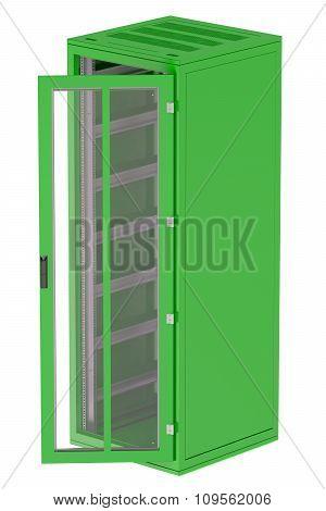 Green Server Rack