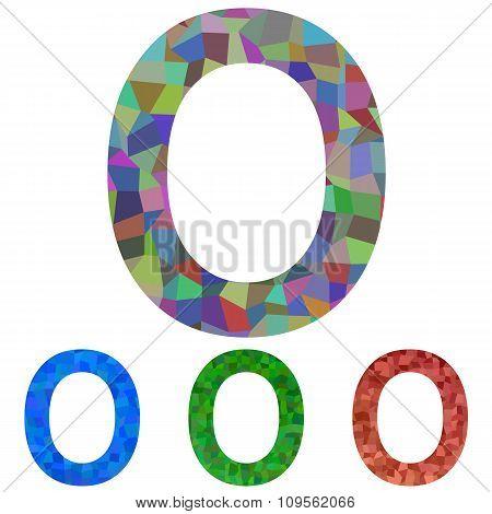 Mosaic font design - letter O