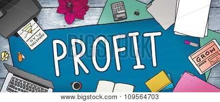 Profit Earning Benefit Financial Revenue Concept