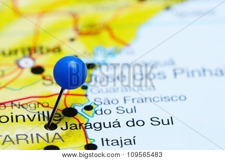 Jaragua do Sul pinned on a map of Brazil