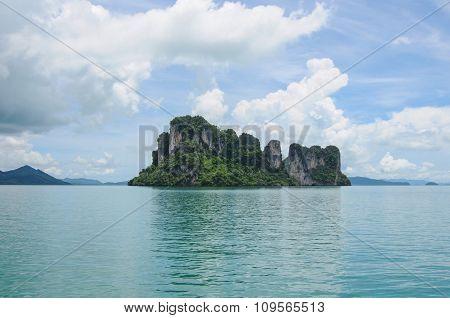 Island At Phang Nga Bay Near Krabi And Phuket