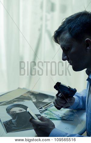 Mysterious Man With Gun