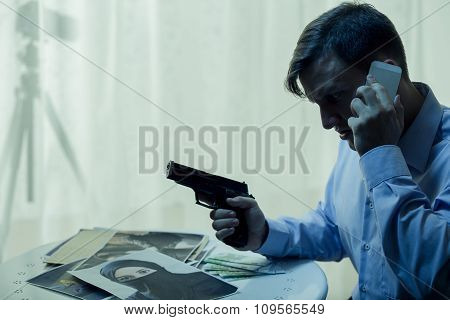 Secret Agent During Operation