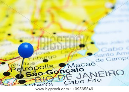 Sao Goncalo pinned on a map of Brazil