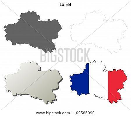 Loiret, Centre outline map set
