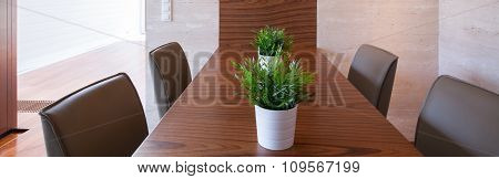 Modern Table In Dining Room