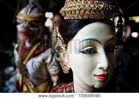 Thailand Puppet Heroine In Literature The Ramayana.