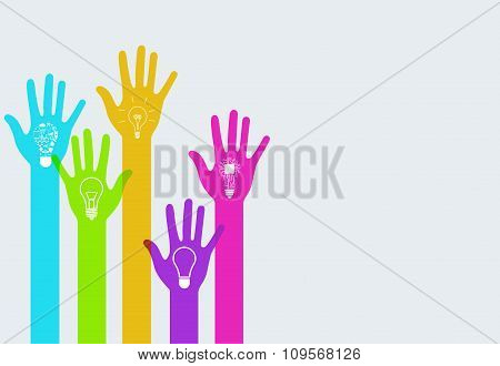 Vector modern colorful hands infographics