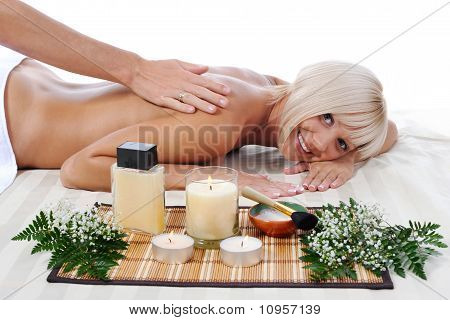 Massage in the spa salon