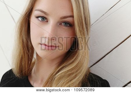 Beauty. Cute girl with blonde hair