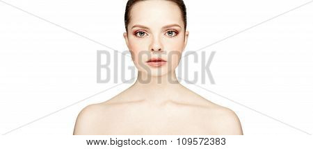 Portrait Of Healty Young Beautiful Woman